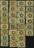 Fractional Currency:Second Issue, United States Fractional Currency - Lot of 30 Second Issue Lower Denomination Notes. . ... (Total: 30 notes)