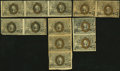 Fractional Currency:Second Issue, United States Fractional Currency - Lot of 5 Second Issue Uncut Multiples.. ... (Total: 5 notes)