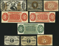 Fractional Currency:Fifth Issue, United States Fractional Currency - Lot of 9 Second and Third IssueNarrow Margin Specimen Notes. . ... (Total: 9 notes)