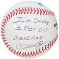 "Autographs:Baseballs, Pete Rose ""I'm Sorry I Bet On Baseball"" Single Signed Baseball...."