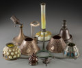 Art Glass:Tiffany , Eleven George Wood Tiffany Studios and Associated Lamp Parts. Circa1915. Ht. 9-1/4 in. (tallest). ... (Total: 12 Items)