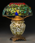 Art Glass:Tiffany , George Wood Tiffany Studios-Style Pebble Lamp. Circa 1915. Ht.12-1/8 x 10 in.. ...