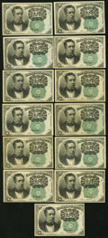 Fractional Currency:Fifth Issue, United States Fractional Currency - Lot of 13 Fifth Issue 10 CentsNotes.. ... (Total: 13 notes)