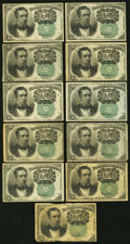 Fractional Currency:Fifth Issue, United States Fractional Currency - Lot of 11 Fifth Issue 10 CentsNotes.. ... (Total: 11 notes)