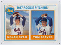 Autographs:Photos, Nolan Ryan and Tom Seaver Dual Signed Oversized Rookie Card....
