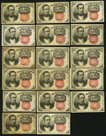 Fractional Currency:Fifth Issue, United States Fractional Currency - Lot of 17 Fifth Issue 10 CentsNotes. . ... (Total: 17 notes)
