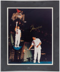 Boxing Collectibles:Autographs, 1996 Muhammad Ali Signed Oversized Olympics Photograph. ...