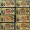 Fractional Currency:Fourth Issue, United States Fractional Currency - Lot of 8 Fourth Issue 25 Cents Notes.. ... (Total: 8 notes)