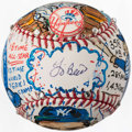 "Autographs:Baseballs, 2013 Yogi Berra ""Charles Fazzino"" Single Signed Original Artwork Baseball. ..."