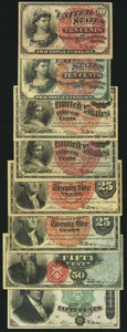 Fractional Currency:Fourth Issue, United States Fractional Currency - Lot of 8 Fourth Issue Notes. . ... (Total: 8 notes)