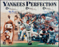 Autographs:Photos, Yankees Perfection Multi-Signed Oversized Photograph - With Berra& Girardi. ...