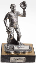Autographs:Others, 1997 Yogi Berra Signed Pewter Statue...