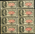 Fractional Currency:Fifth Issue, United States Fractional Currency - Lot of 8 Fifth Issue 50 CentsNotes.. ... (Total: 8 notes)