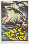 """Movie Posters:Science Fiction, Voyage to the End of the Universe (American International, 1964).One Sheet (27"""" X 41""""). Science Fiction.. ..."""