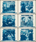 "Movie Posters:Crime, Each Dawn I Die (Warner Brothers, R-1947). Lobby Cards (6) (11"" X14""). Crime.. ... (Total: 6 Items)"