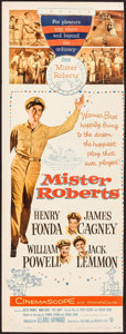 "Movie Posters:Comedy, Mister Roberts (Warner Brothers, 1955). Trimmed Insert (13.5"" X36""). Comedy.. ..."