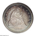 Proof Seated Quarters: , 1869 25C PR66 PCGS. Like the other P-mint Motto Seated Quartersfrom the 1860s, the 1869 was produced in limited numbers as...