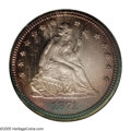 Proof Seated Quarters: , 1871 25C PR66 NGC. According to both Larry Briggs (TheComprehensive Encyclopedia of United States Liberty SeatedQuarter...