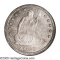 Proof Seated Quarters: , 1877 25C PR66 PCGS. Type Two Reverse. Curiously enough, this isonly the second PR66 we have offered of this date. Given th...