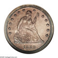 Proof Seated Quarters: , 1889 25C PR67 NGC. This Superb Proof is a lovely example with cameotendencies beneath rose and lilac toning. The mirrored ...