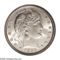 Barber Quarters: , 1893-O 25C MS66 NGC. There is a wide variance in strikingdefinition on 1893-O Quarters. Some are well brought up, such as...