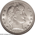 Barber Quarters: , 1901-O 25C MS65 NGC. Per David Lawrence (1994), the 1901-O is theseventh rarest Barber Quarter in Mint State. This should ...