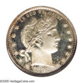 Proof Barber Quarters: , 1896 25C PR66 Cameo NGC. The 1896 is perhaps our favorite proof Barber Quarter for type purposes because it is an issue tha...
