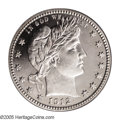 Proof Barber Quarters: , 1912 25C PR66 Cameo PCGS. Only 700 proofs were struck of this late-date issue and surprisingly few are known in better grad...