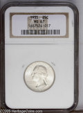 Washington Quarters: , 1935 25C MS67 NGC. Well struck, highly lustrous, and nearlybrilliant, with just a faint undertone of pale yellow toning. O...