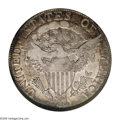 Early Half Dollars: , 1806/5 50C AU53 NGC. O-101, R.3. Although a light amount of wear isvisible on the highest points of the obverse, the rever...