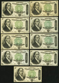 Fractional Currency:Fourth Issue, United States Fractional Currency - Lot of 9 Fourth Issue 50 Cents Dexter Notes.. ... (Total: 9 notes)