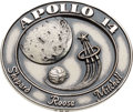 Explorers:Space Exploration, Apollo 14 Flown Silver Robbins Medallion, Serial Number 302. ...