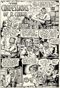 Robert Crumb The People's Comics Complete 4-Page Story (Golden Gate Publishing, 1972).... (Total: 4 Original Art)