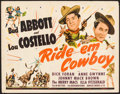 """Movie Posters:Comedy, Ride 'Em Cowboy (Universal, 1942). Title Lobby Card (11"""" X 14"""").Comedy.. ..."""