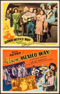 """Movie Posters:Western, Down Mexico Way (Republic, 1941). Autographed Lobby Card & Title Lobby Card (11"""" X 14""""). Western.. ... (Total: 2 Items)"""