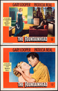 "Movie Posters:Drama, The Fountainhead (Warner Brothers, 1949). Lobby Cards (2) (11"" X14""). Drama.. ... (Total: 2 Items)"