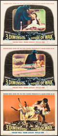 "Movie Posters:Horror, House of Wax (Warner Brothers, 1953). Title Lobby Card & Lobby Cards (2) (11"" X 14""). Horror.. ... (Total: 3 Items)"