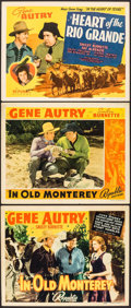 """Movie Posters:Western, In Old Monterey (Republic, 1939). Title Lobby Cards (2), Lobby Card (11"""" X 14""""). Western.. ... (Total: 3 Items)"""