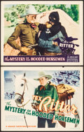 "Movie Posters:Western, The Mystery of the Hooded Horsemen (Grand National, 1937). Title Lobby Card & Lobby Card (11"" X 14""). Western.. ... (Total: 2 Items)"
