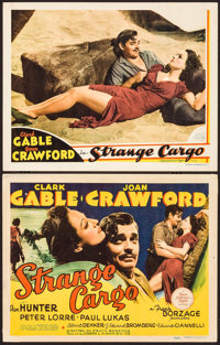 "Strange Cargo (MGM, 1940). Title Card & Lobby Card (11"" X 14""). Drama. ... (Total: 2 Items)"