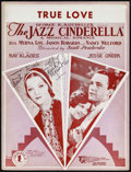 """Movie Posters:Romance, The Jazz Cinderella (Chesterfield, 1930). Autographed Sheet Music(9.25"""" X 12.25""""). Romance.. ..."""