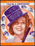 """Movie Posters:Musical, You're a Sweetheart (Universal, 1937). Autographed Sheet Music (9.25"""" X 12.25""""). Musical.. ..."""