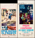 """Movie Posters:Action, In Enemy Country & Others Lot (Universal, 1968). Italian Locandinas (4) (12.5"""" X 25.25,"""" 12.5"""" X 27.5,"""" 13"""" X 27.25,"""" & 13"""" ... (Total: 4 Items)"""