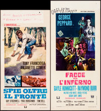 "In Enemy Country & Others Lot (Universal, 1968). Italian Locandinas (4) (12.5"" X 25.25,"" 12.5"" X 27.5..."