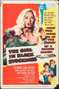 """Movie Posters:Crime, The Girl in Black Stockings (United Artists, 1957). One Sheet (27""""X 41""""). Crime.. ..."""