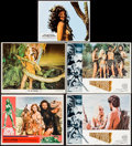 """Movie Posters:Fantasy, One Million Years B.C. & Others Lot (20th Century Fox, 1966). Lobby Cards (4) (11"""" X 14"""") & German Lobby Card (8.75"""" X 11.25... (Total: 5 Items)"""