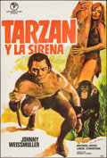 """Movie Posters:Adventure, Tarzan and the Mermaids & Other Lot (Columbus, R-1973). Spanish One Sheet (39"""" X 36.5"""") & Argentinean Poster (30"""" X 43""""). Ad... (Total: 2 Items)"""