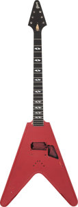 Musical Instruments:Electric Guitars, 1988 Gibson Flying V90 Red Electric Solid Guitar Body, Serial #81828749....