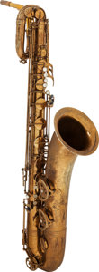 Musical Instruments:Horns & Wind Instruments, Circa 1960's Buffet Brass Baritone Saxophone, Serial #15136....