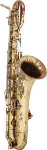 Musical Instruments:Horns & Wind Instruments, Circa 1970's King Zephyr Brass Baritone Saxophone.....